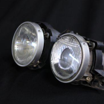 "E30 Euro headlights set – ""smileys"" made by Hella"