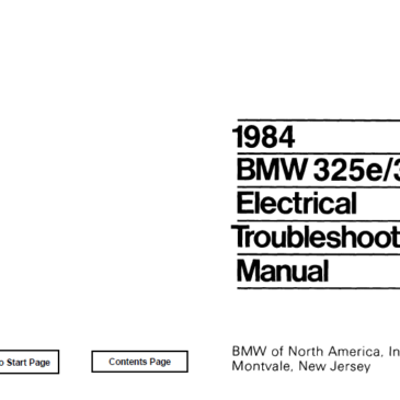 BMW 1984 e30 325e/318i  Electrical Troubleshooting Manual