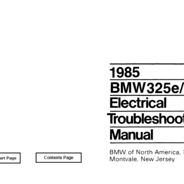 BMW 1985 e30 325e/318i  Electrical Troubleshooting Manual