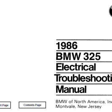 BMW 1986 e30 325  Electrical Troubleshooting Manual