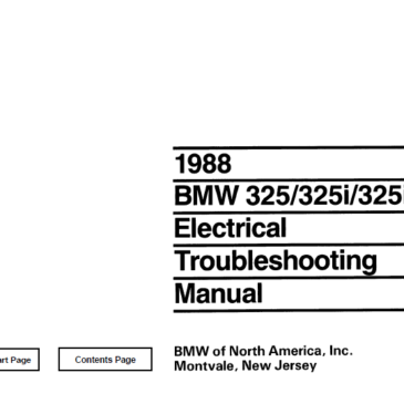 BMW 1988 e30 325/325i/325is  Electrical Troubleshooting Manual