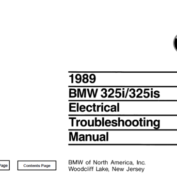 BMW 1989 e30 325i/325is  Electrical Troubleshooting Manual