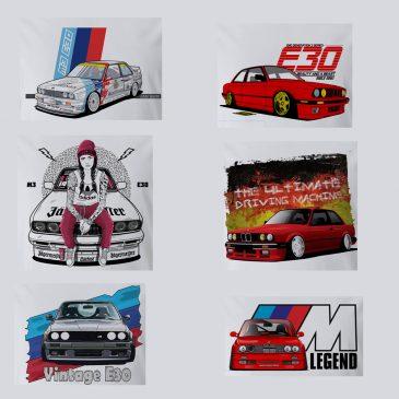 E30 fan t-shirts